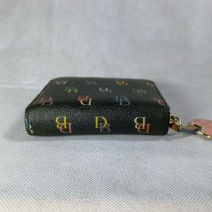 Dooney & Bourke Bags - Dooney & Bourke Zip Around Multi Color DB Wallet